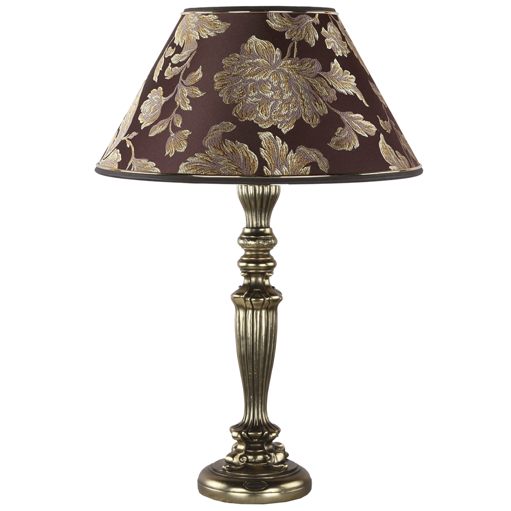 Настольная лампа Богемия Бронза Маргарита Шоколад