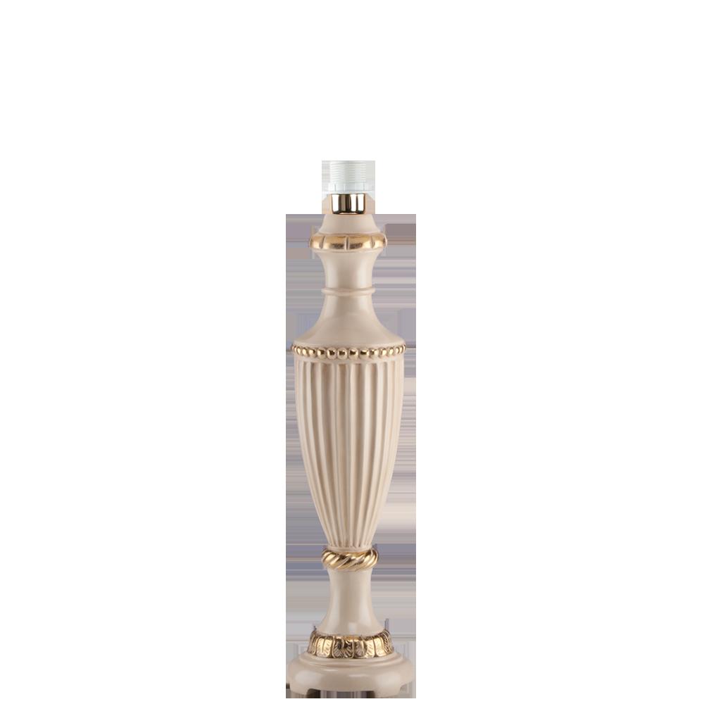 Настольная лампа Ваза Ребристая Айвори Лайт Беж