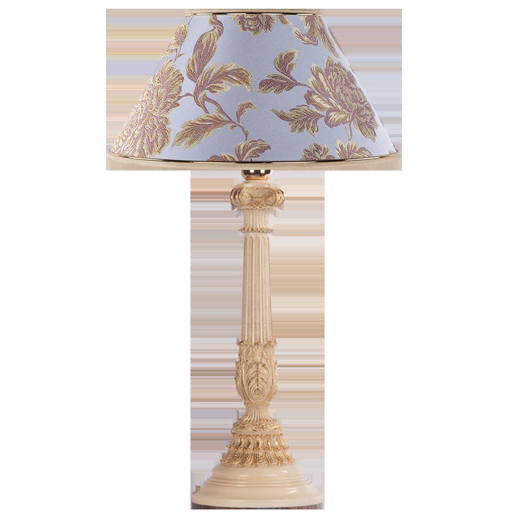 Настольная лампа Колонна Испанская Айвори Маргарита Лаванда