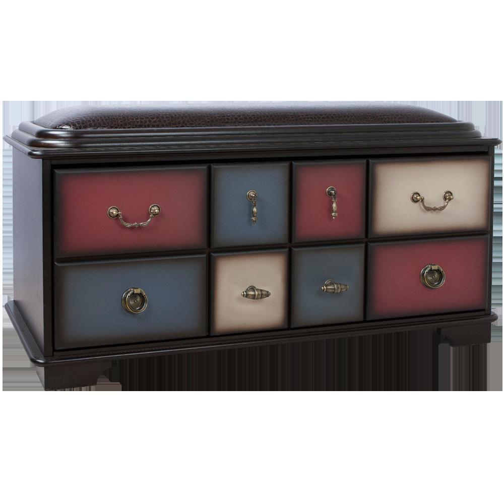 Банкетка с ящиком Пандора 2 Орех Mix