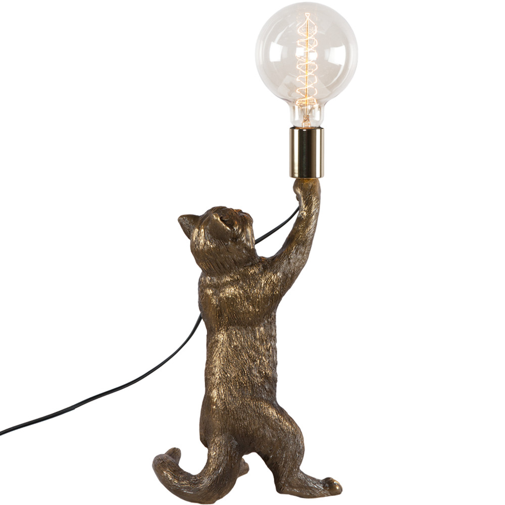 Настольная лампа Кот Эдисон Бронза
