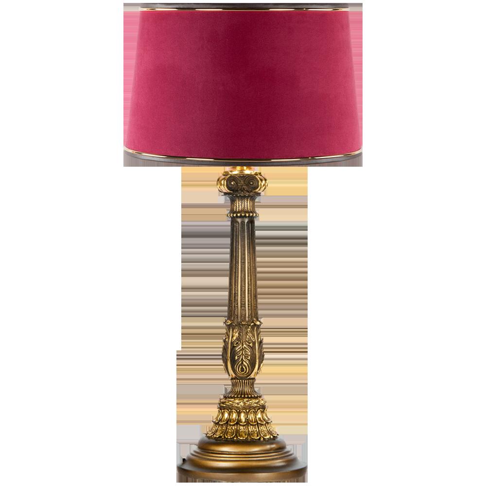 Настольная лампа Колонна Испанская Бронза Тюссо Амарант