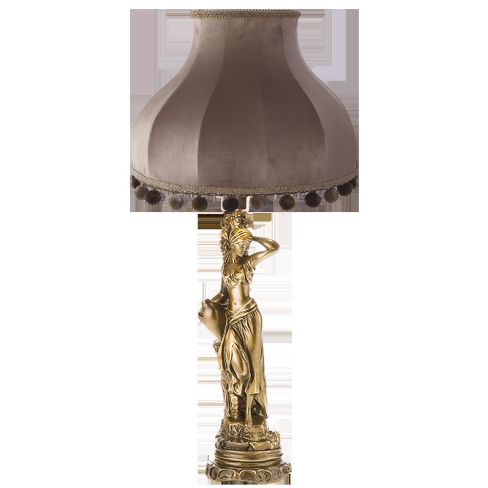 Настольная лампа Девушка с кувшином Классика Капучино