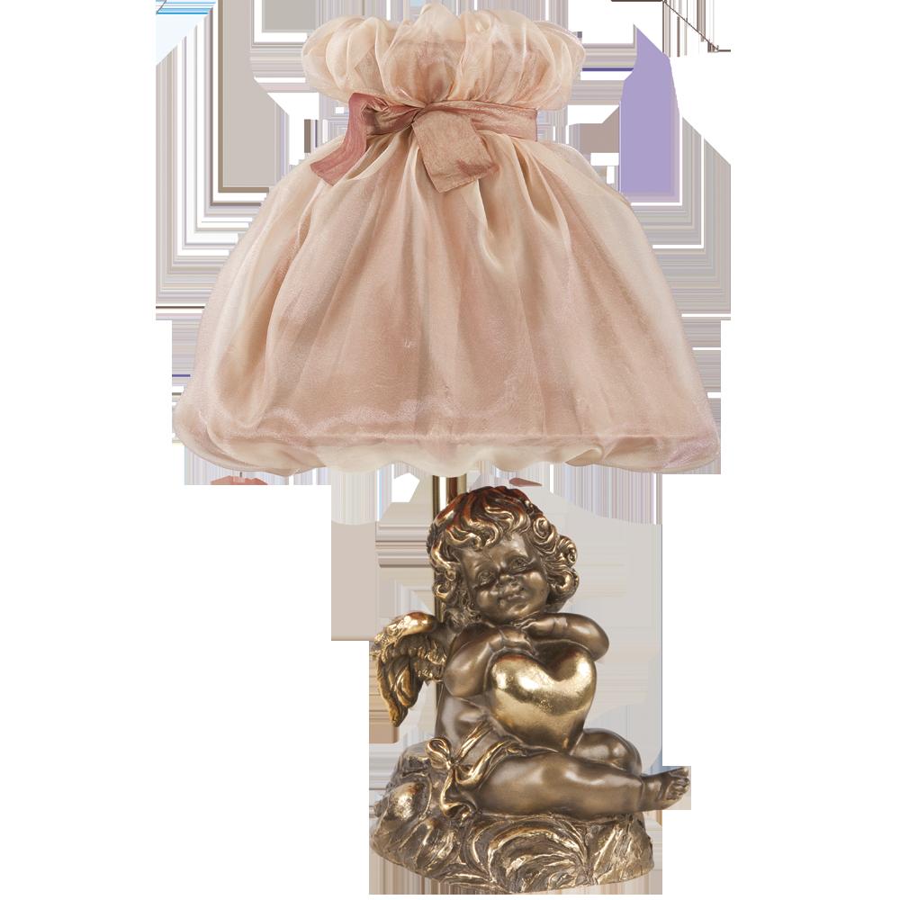 Настольная лампа Сердце Купидона Бронза Солнечный Персик