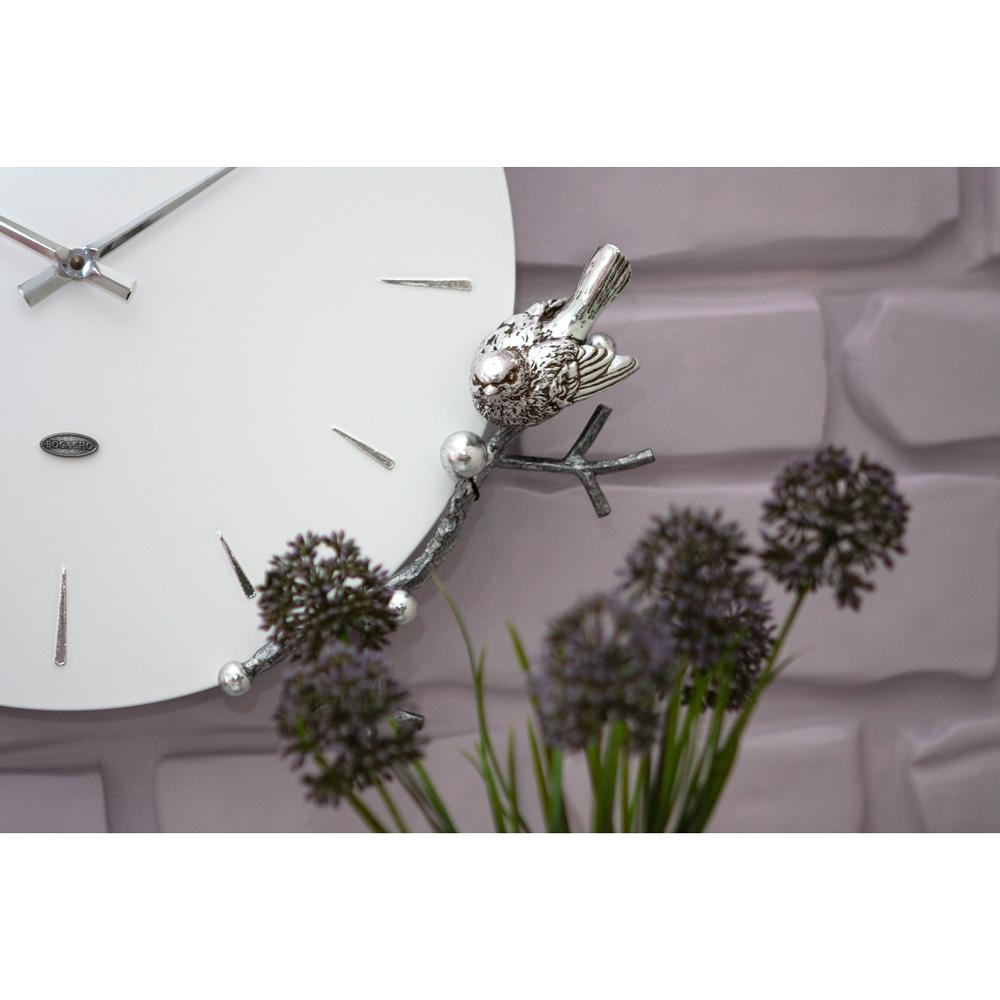 Часы настенные Терра Серебро