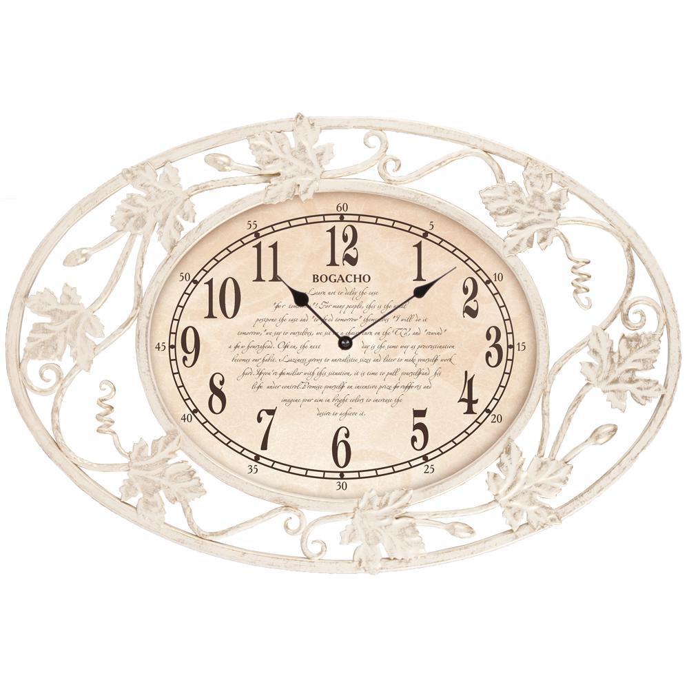 Часы настенные Первое свидание эллипс Айвори