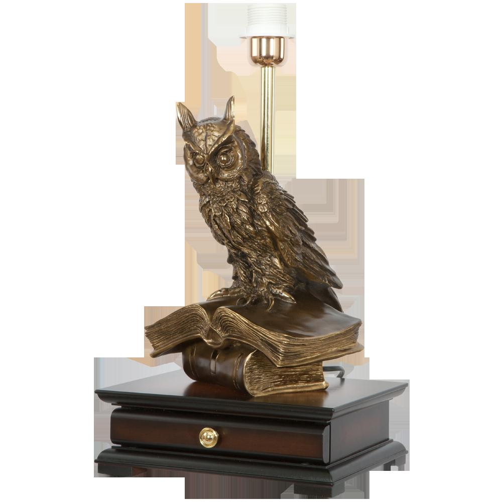 Настольная лампа с бюро Ученый Филин Маргарита Лаванда