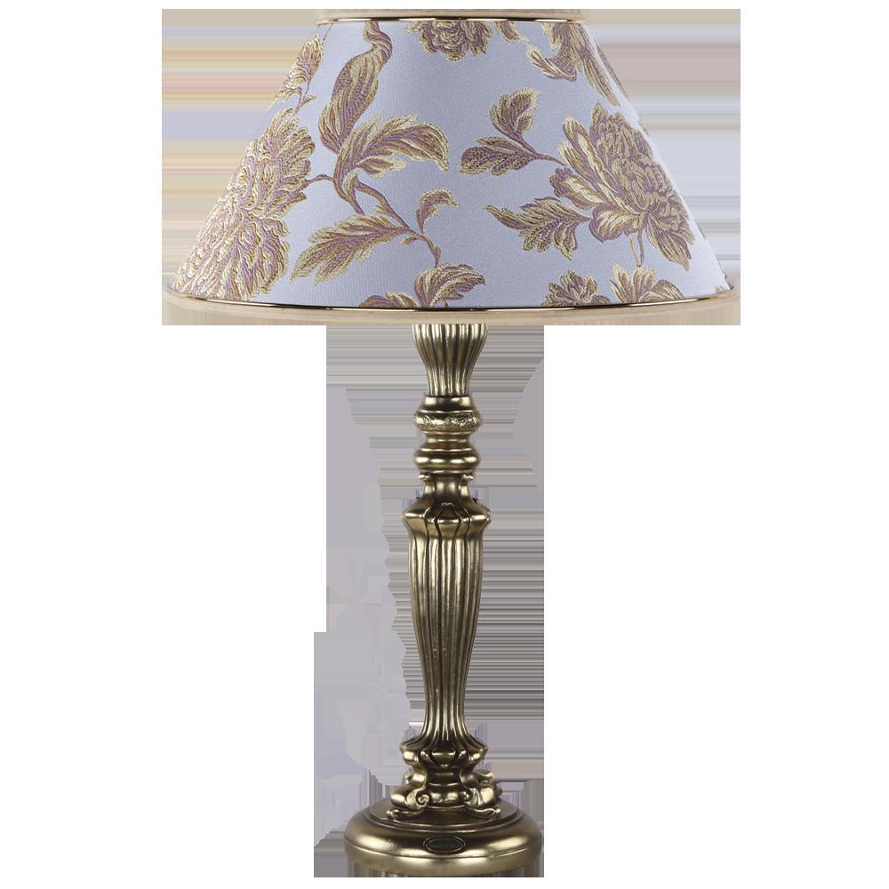 Настольная лампа Богемия Бронза Маргарита Лаванда