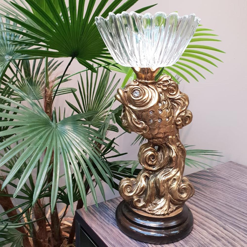 Фруктовница-конфетница Заветное желание Золото