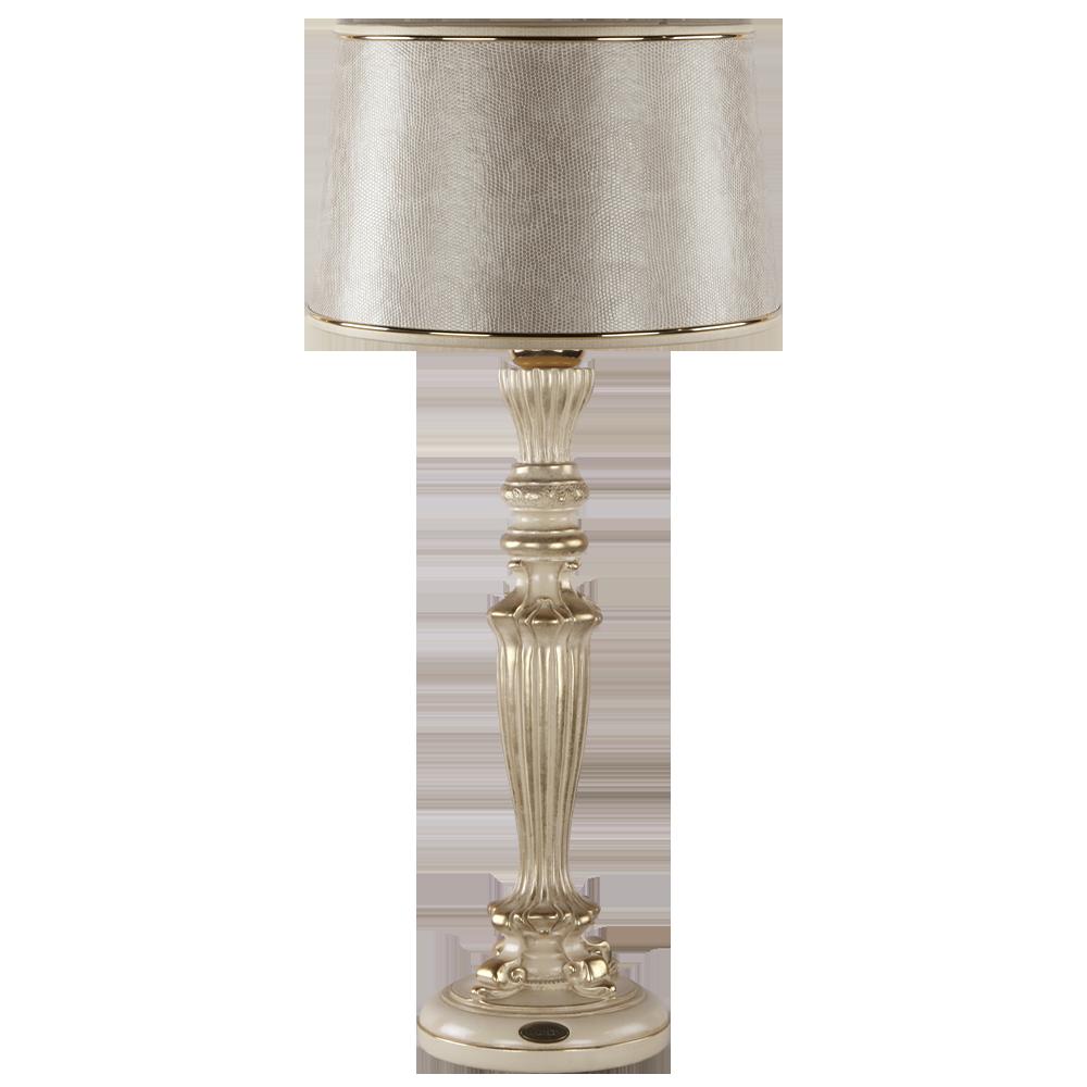 Настольная лампа Богемия Айвори Тюссо Игуана Беж