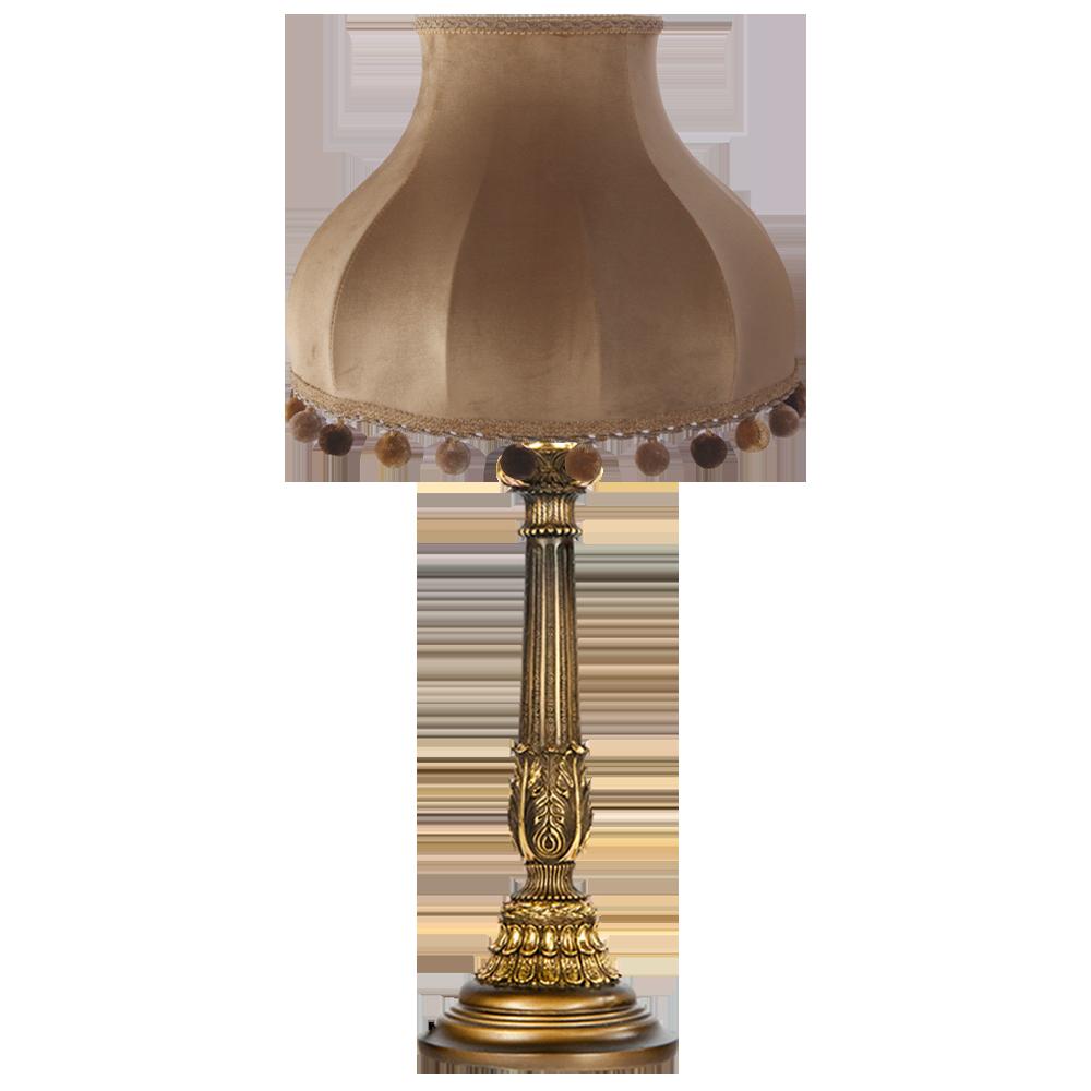 Настольная лампа Колонна Испанская Бронза Классика Поталь