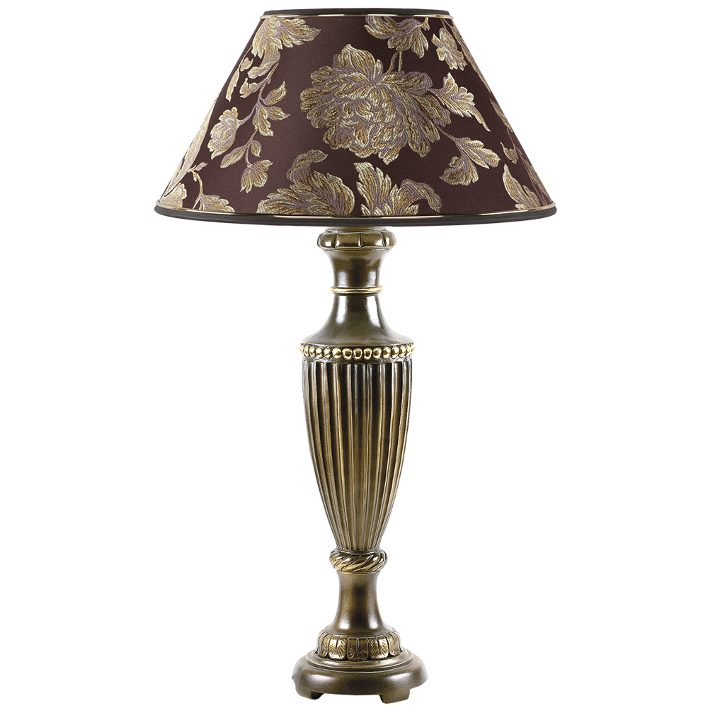 Настольная лампа Ваза Ребристая Бронза Маргарита Шоколад