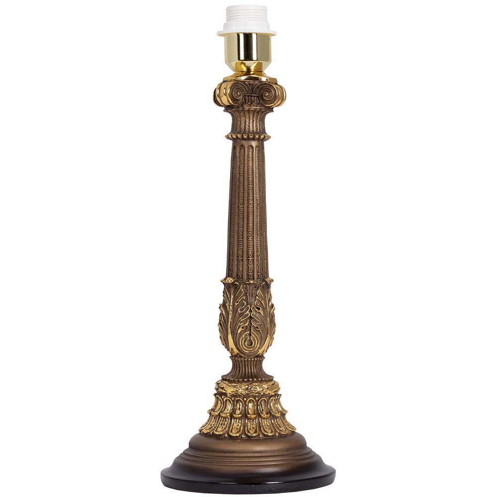 Настольная лампа Колонна Испанская Бронза Тюссо Поталь