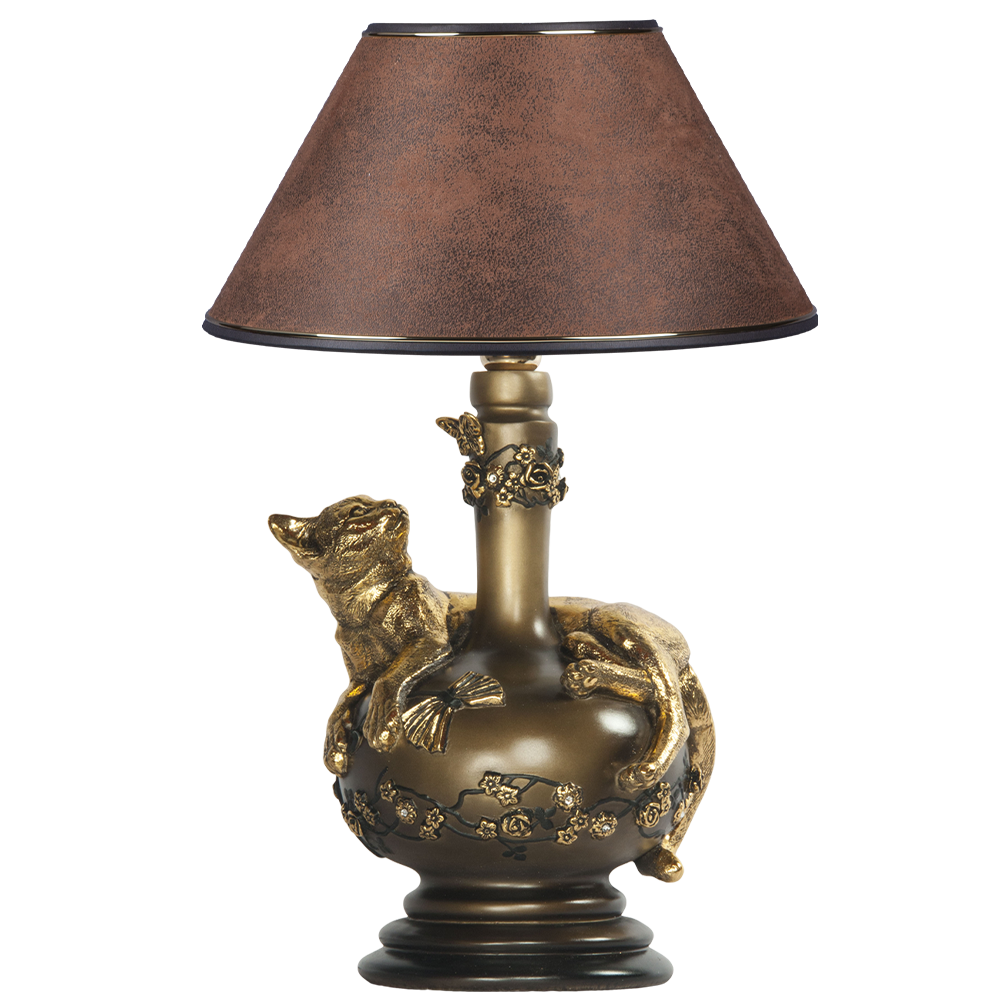 Настольная лампа Агнесса Шоколад