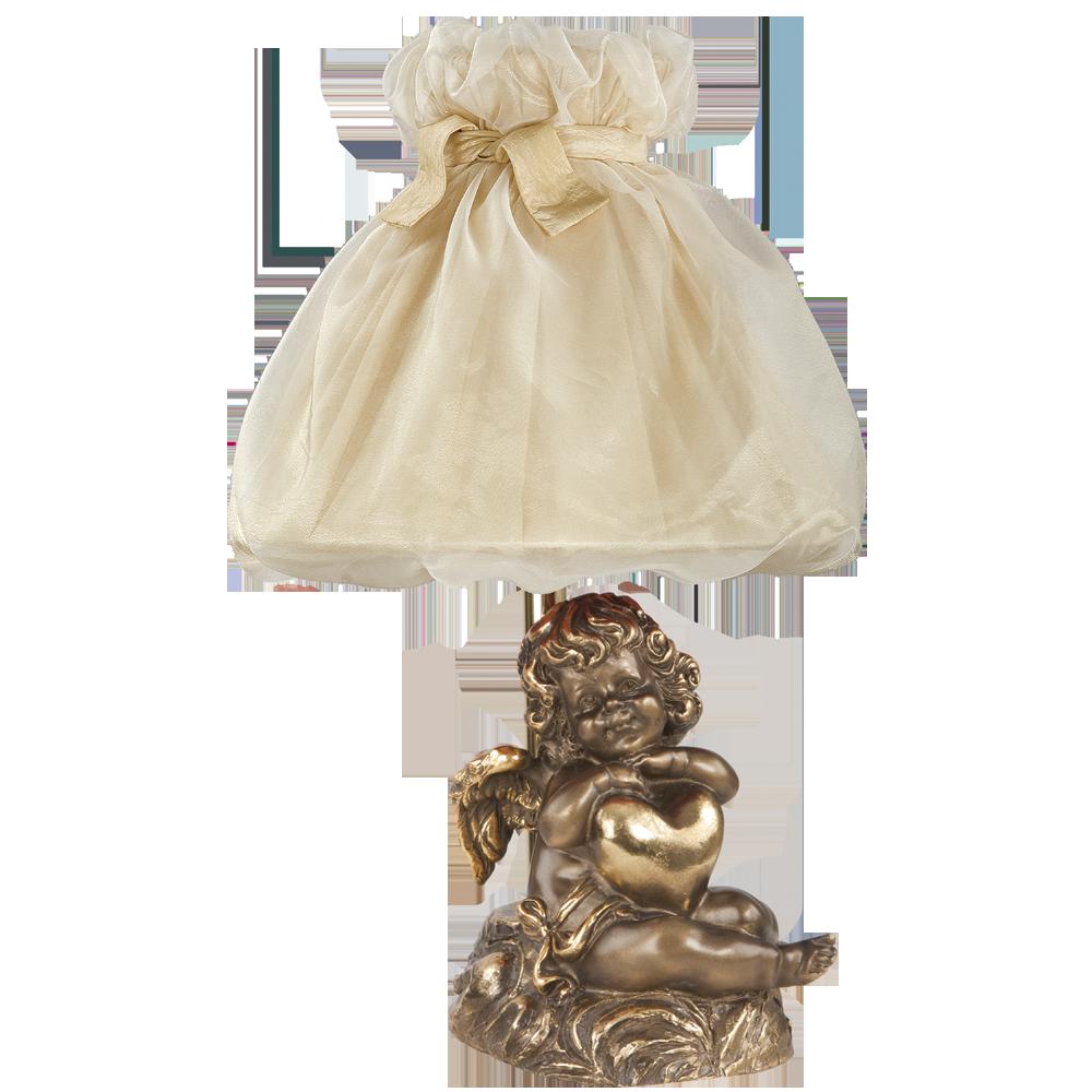 Настольная лампа Сердце Купидона Бронза Жемчуг