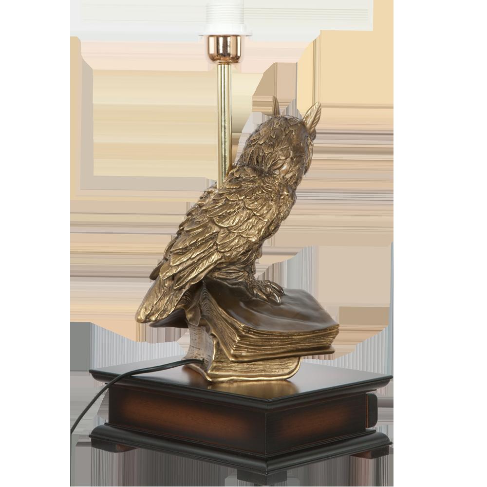 Настольная лампа с бюро Ученый Филин Тюссо Игуана Беж
