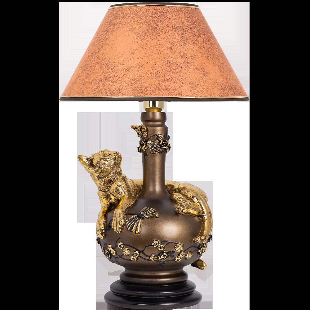 Настольная лампа Агнесса Персик