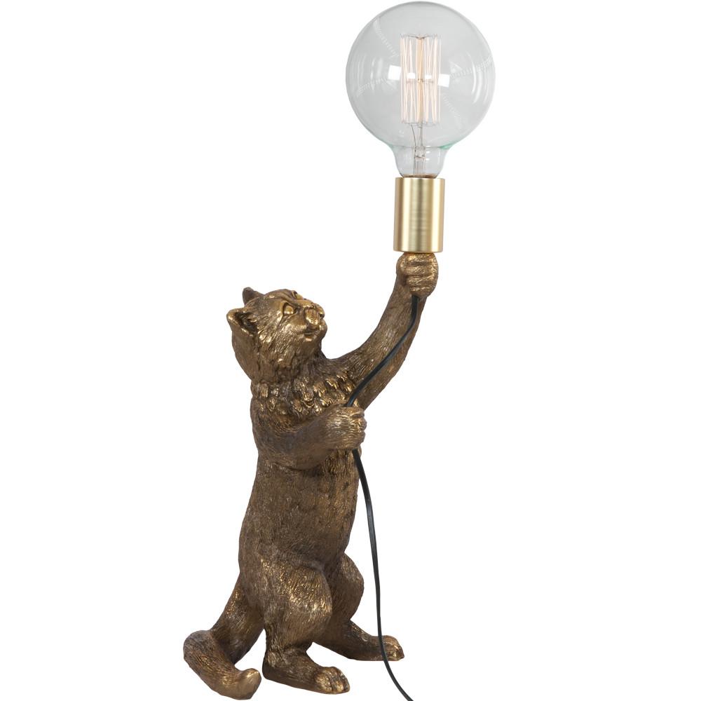 Настольная лампа Кот Мэдисон Бронза