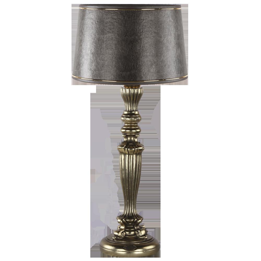 Настольная лампа Богемия Бронза Тюссо Игуана Шоколад
