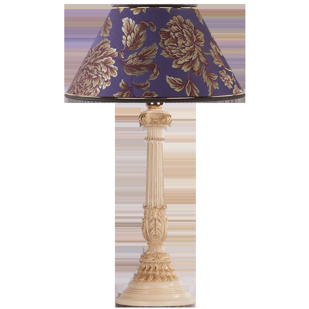 Настольная лампа Колонна Испанская Айвори Маргарита Фиолет