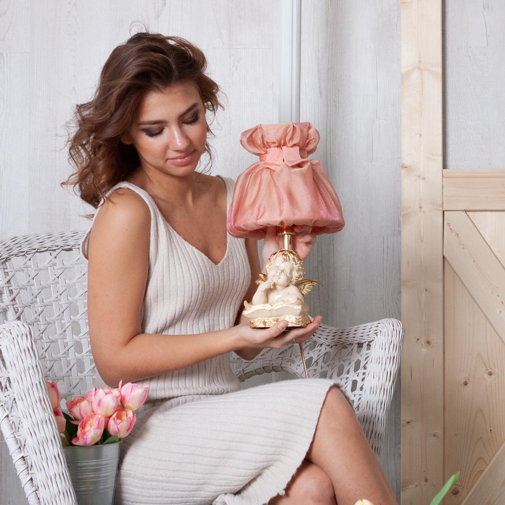 Настольная лампа Ангел Поэт Айвори Мадлен Солнечный Персик