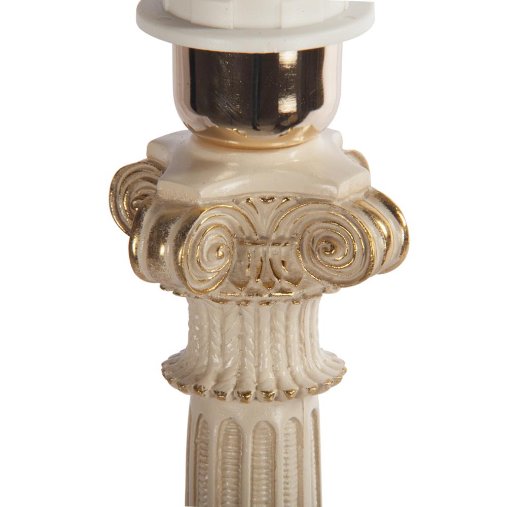 Настольная лампа Колонна Испанская Айвори Персик