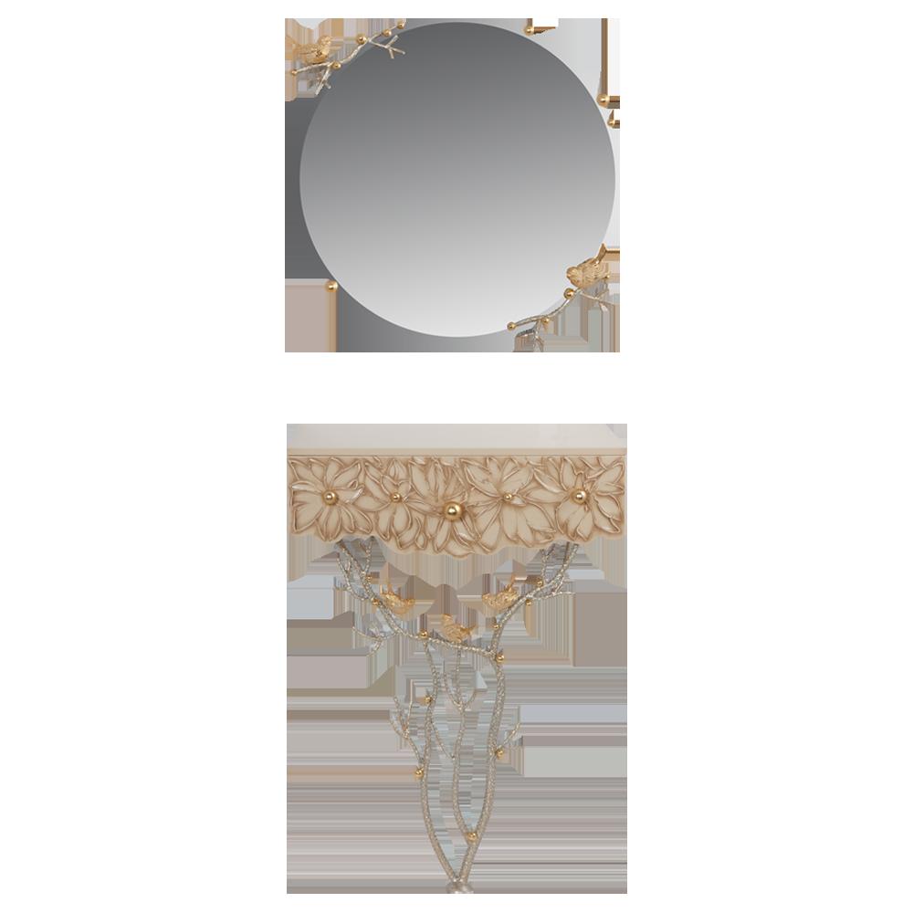 Консоль и зеркало Терра Айвори