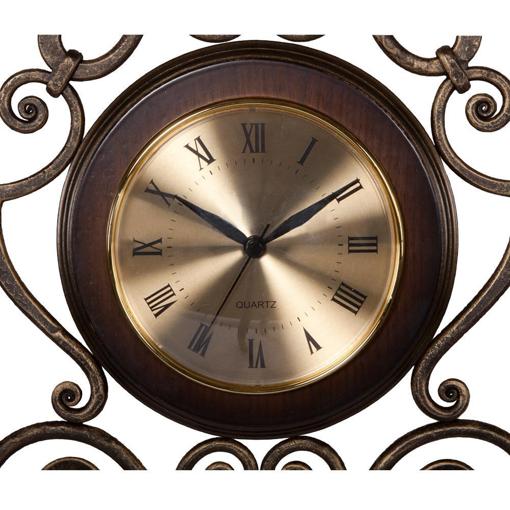 Часы настенные Аделаида Амбер Шоколад