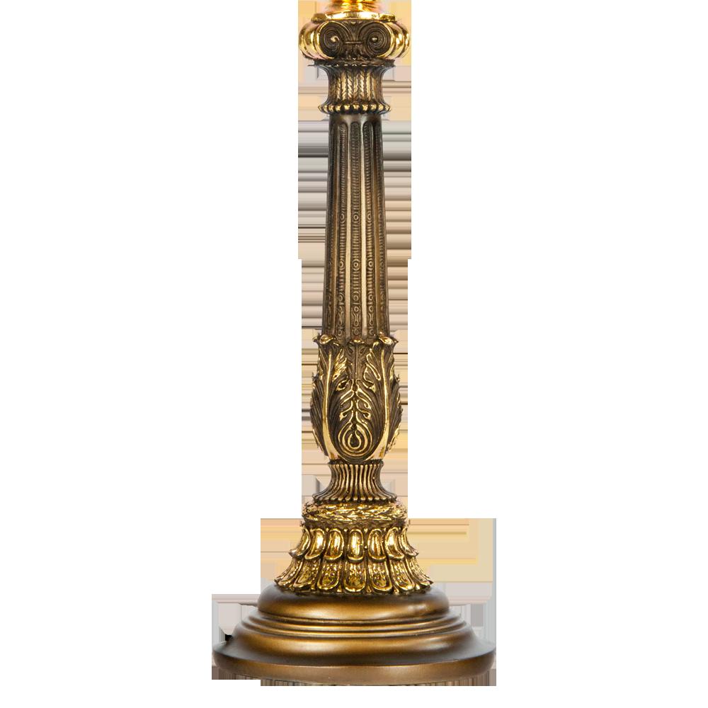 Настольная лампа Колонна Испанская Бронза Маргарита Лаванда