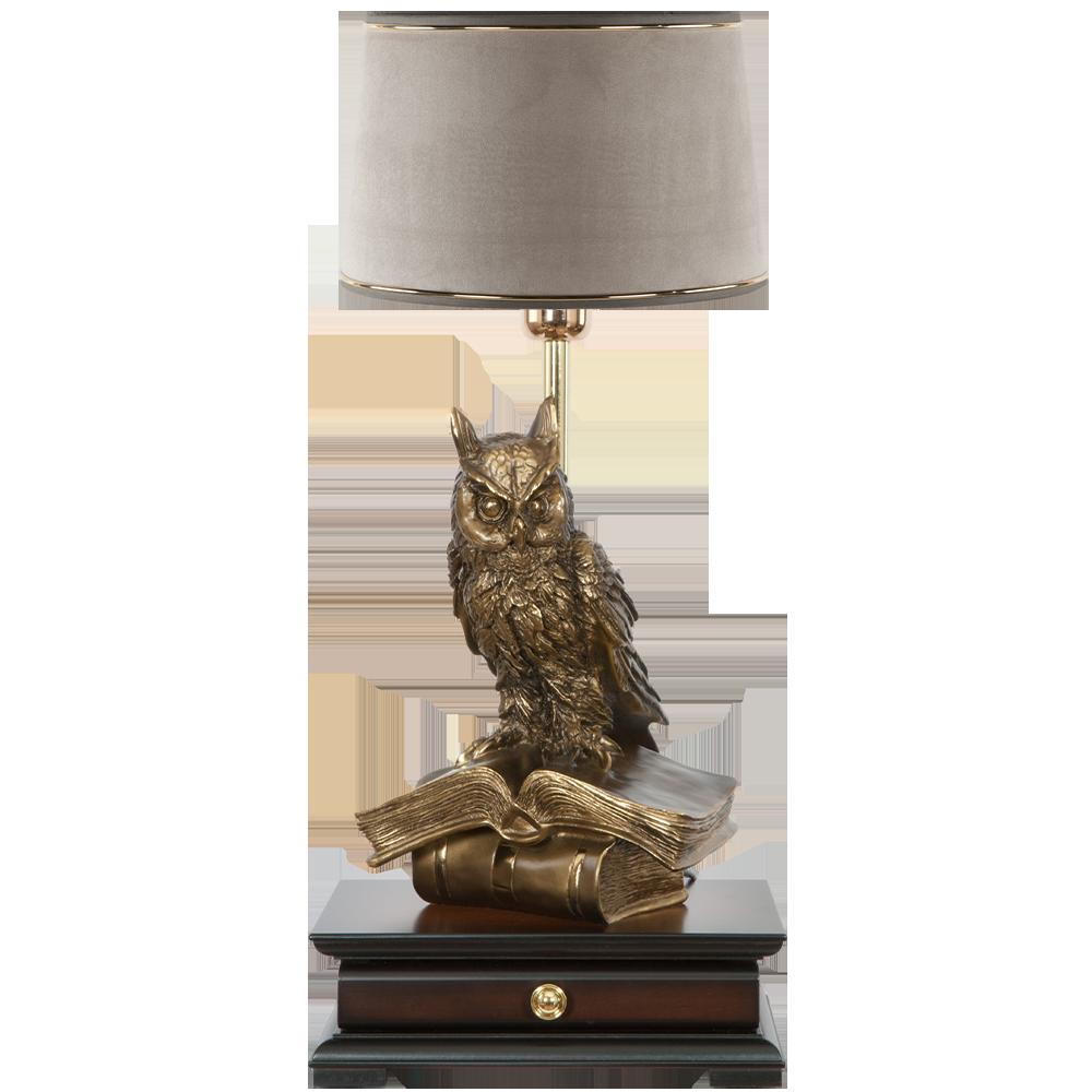 Настольная лампа с бюро Ученый Филин Тюссо Капучино
