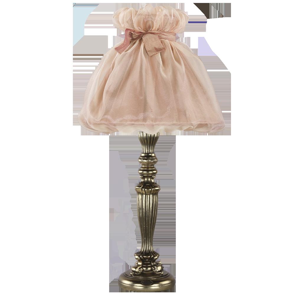 Настольная лампа Богемия Бронза Мадлен Солнечный Персик