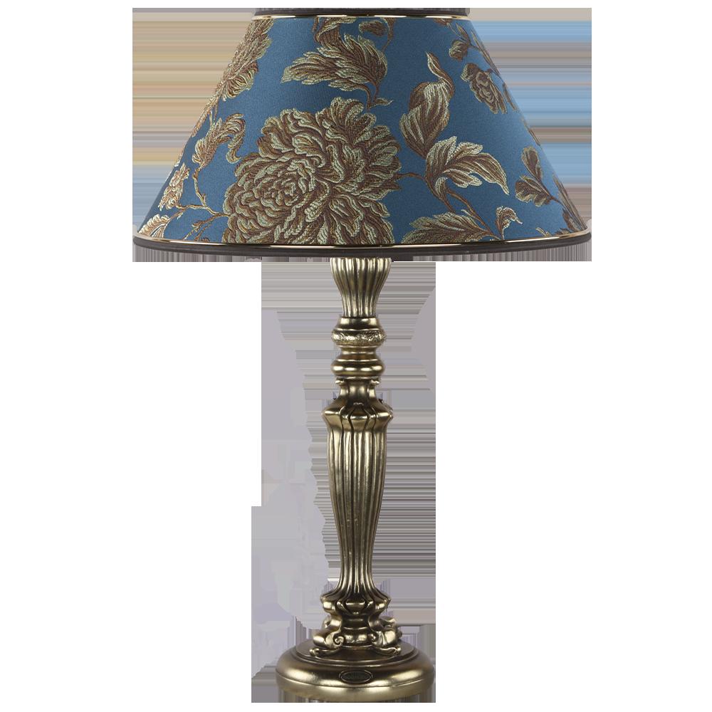 Настольная лампа Богемия Бронза Маргарита Голубая Лагуна