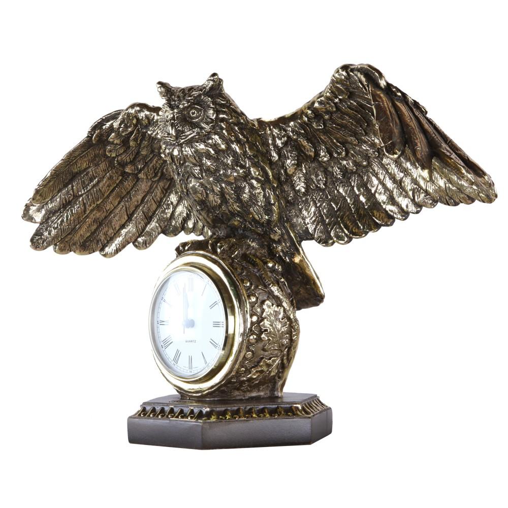 Часы настольные Флайт Бронза
