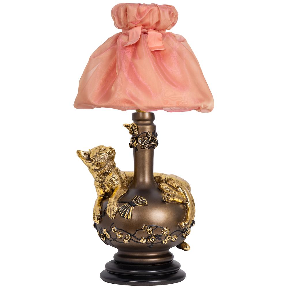 Настольная лампа Агнесса Мадлен Солнечный Персик