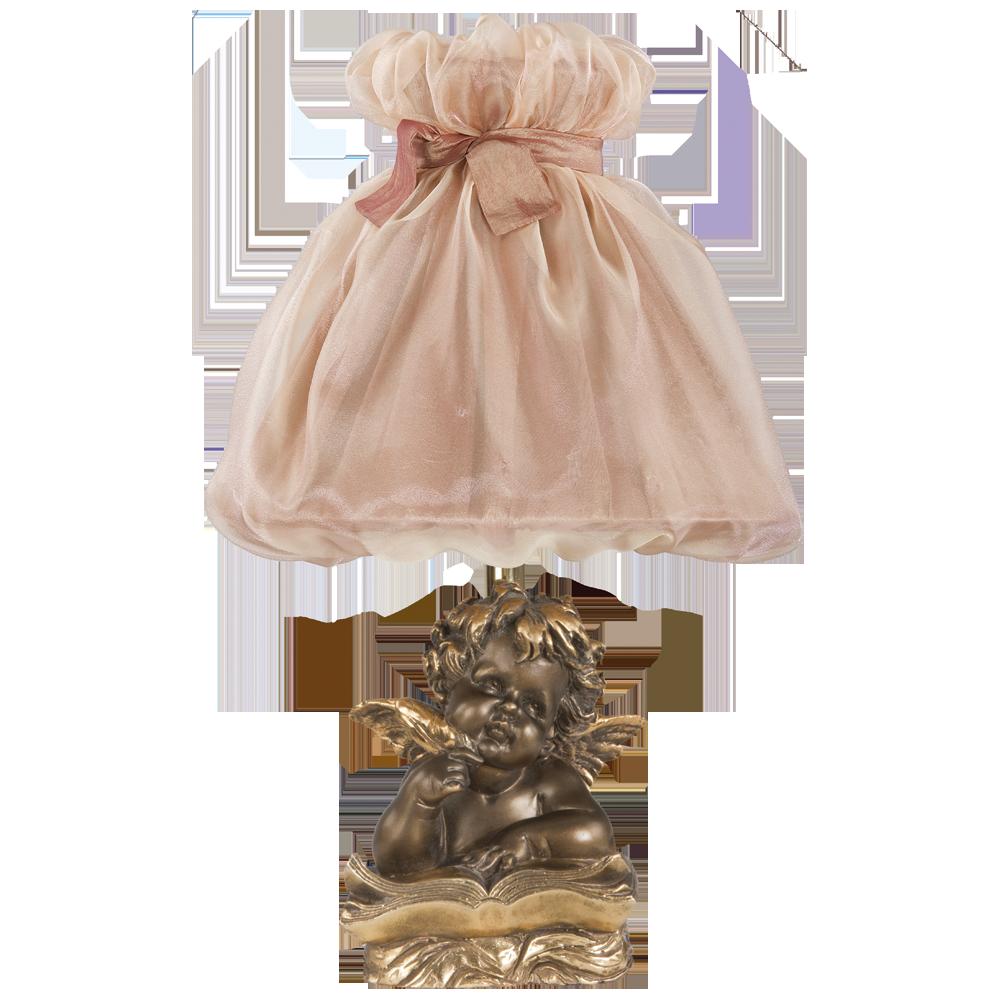 Настольная лампа Ангел Поэт Бронза Мадлен Солнечный персик