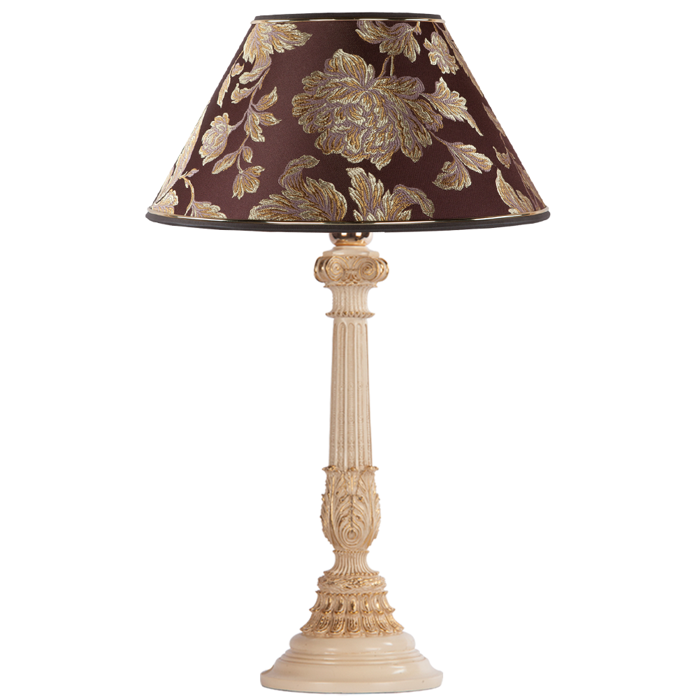 Настольная лампа Колонна Испанская Айвори Маргарита Шоколад