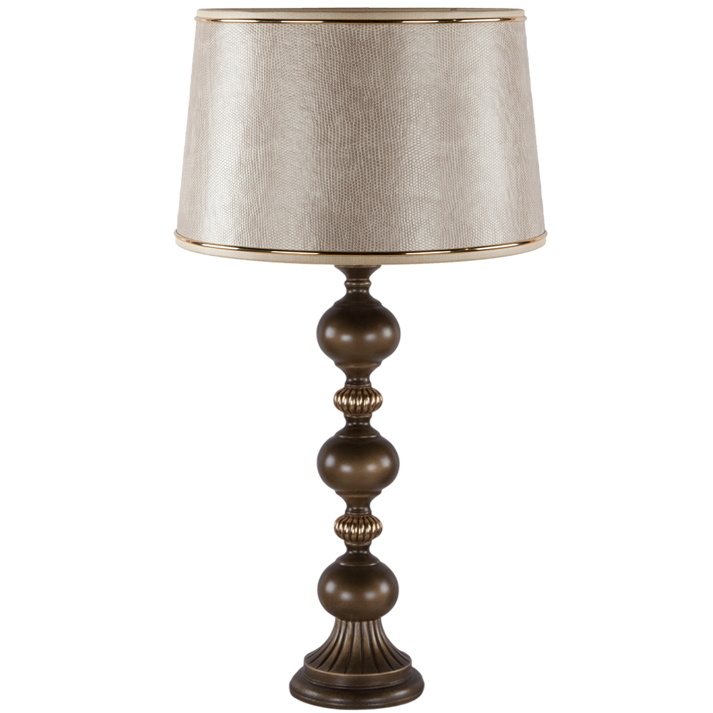 Настольная лампа Шарлиз Бронза Тюссо Игуана Беж