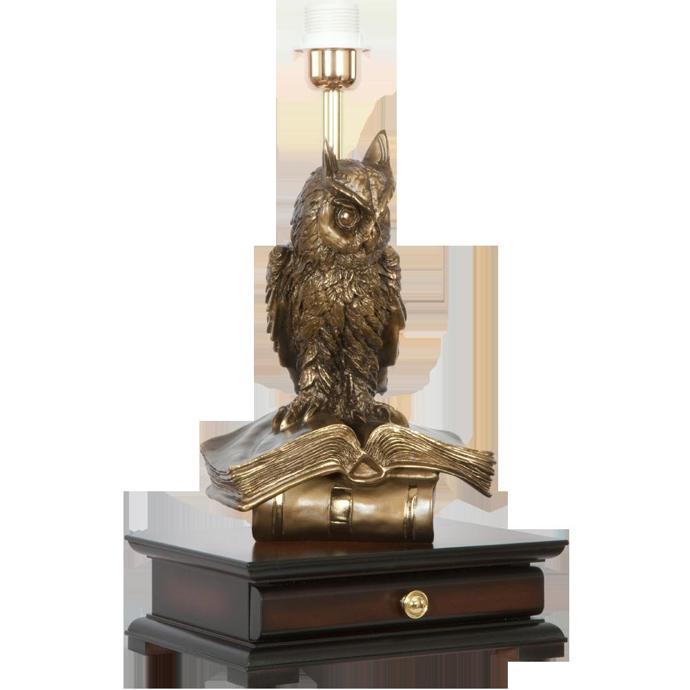 Настольная лампа с бюро Ученый Филин Тюссо Амарант
