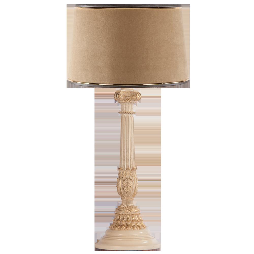 Настольная лампа Колонна Испанская Айвори Тюссо Поталь
