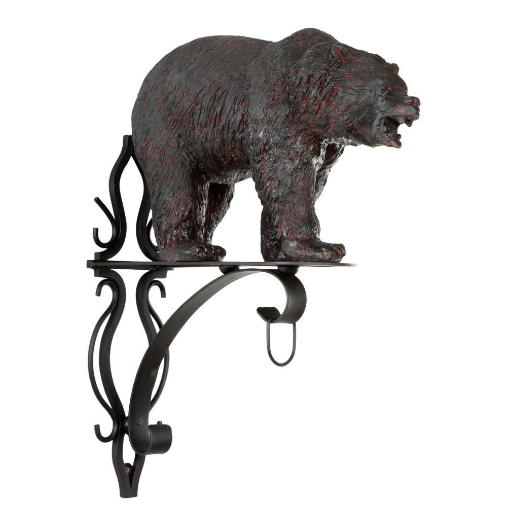 Кронштейн для цветов Медведь Велес Шоколад