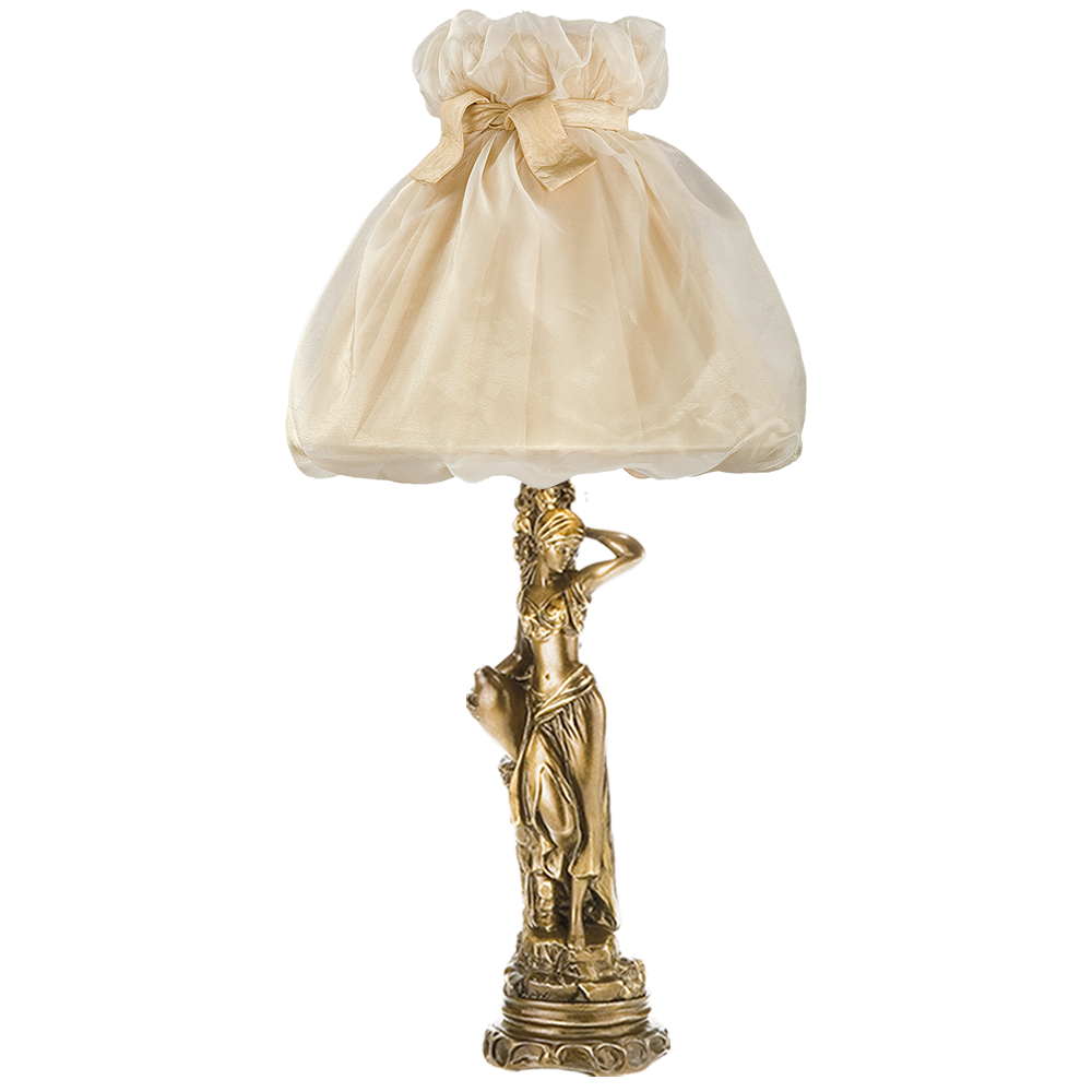 Настольная лампа Девушка с кувшином Мадлен Жемчуг