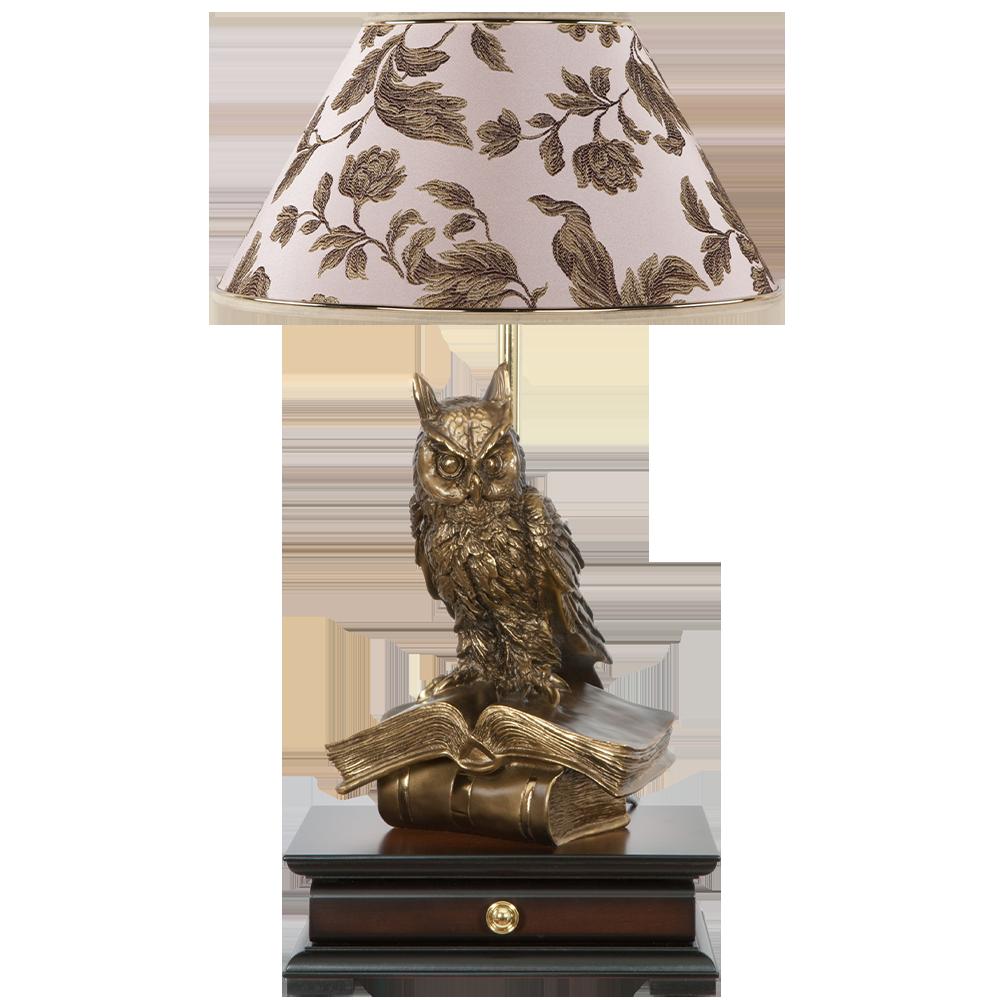 Настольная лампа с бюро Ученый Филин Маргарита Персик