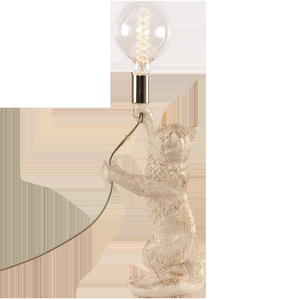 Настольная лампа Кот Эдисон Айвори
