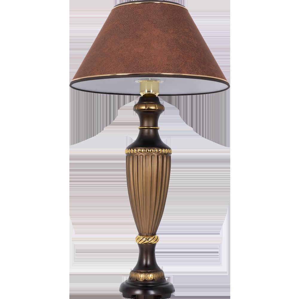 Настольная лампа Ваза Ребристая Бронза Шоколад