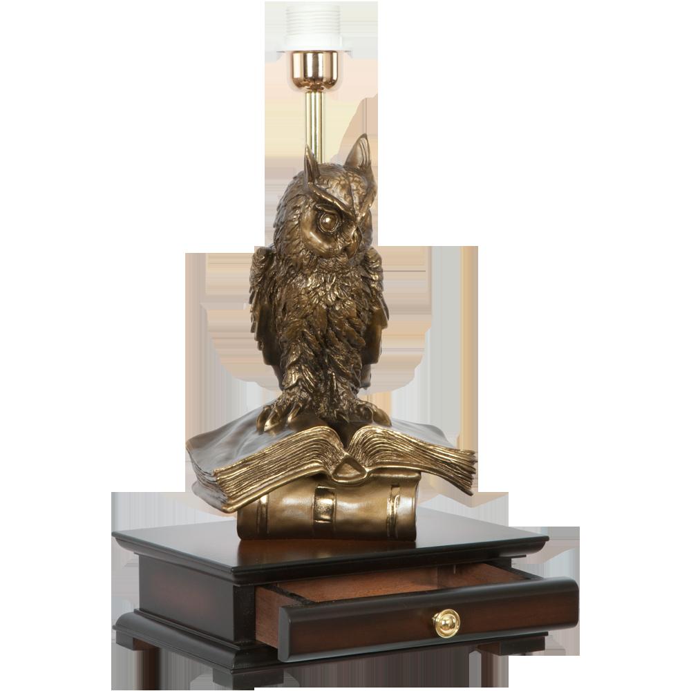 Настольная лампа с бюро Ученый Филин Тюссо Игуана Шоколад