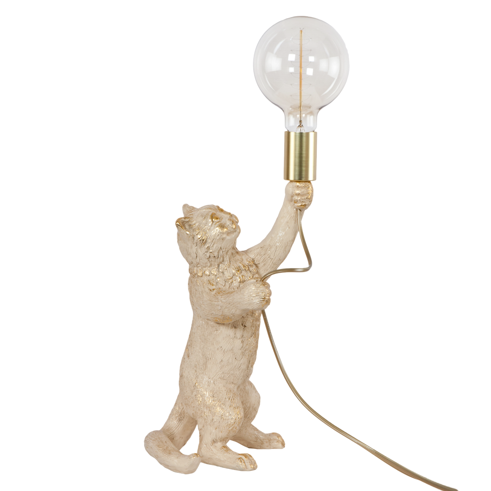 Настольная лампа Кот Мэдисон Айвори