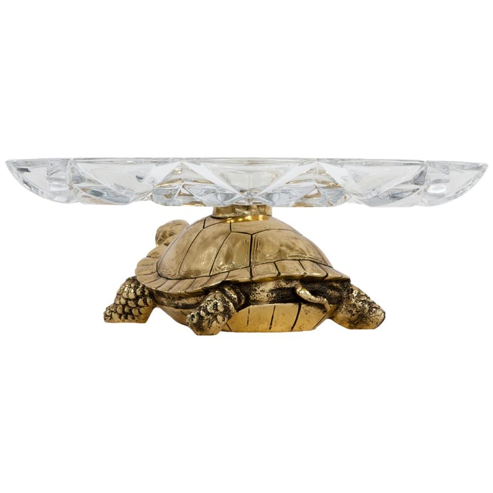 Фруктовница-конфетница Черепаха 6 Бронза