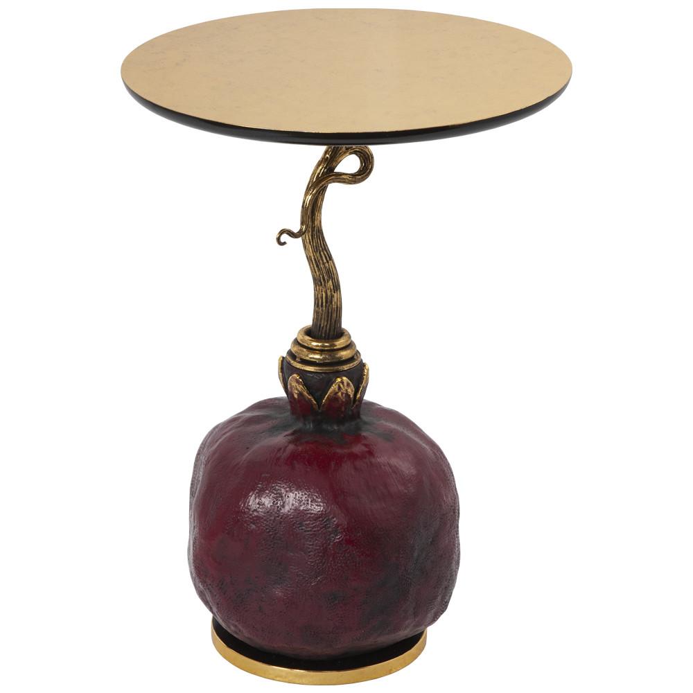 Столик декоративный Рубиновый гранат
