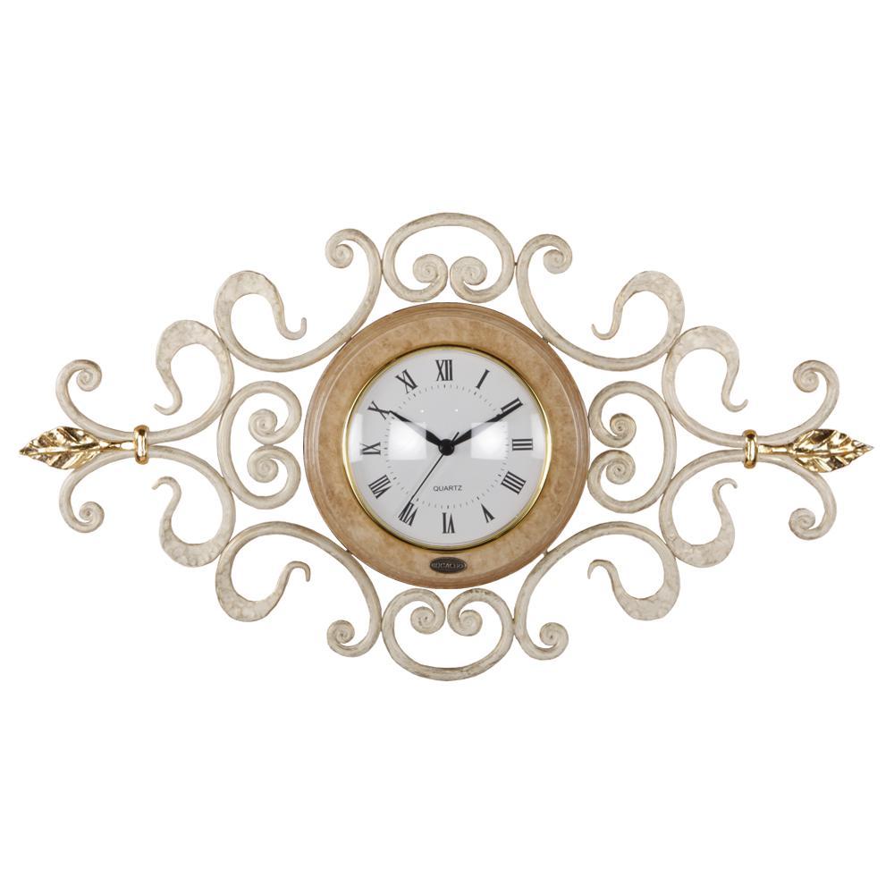 Часы настенные Ля Флер эллипс Айвори