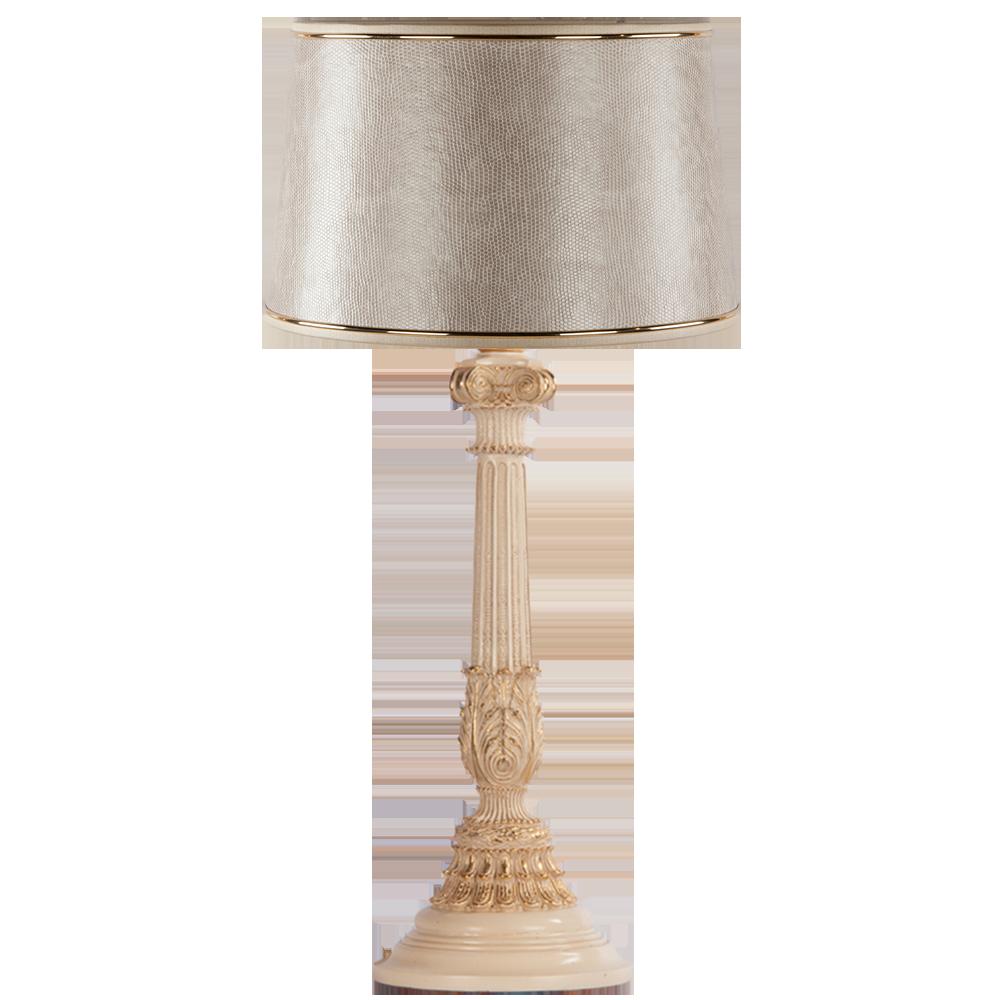 Настольная лампа Колонна Испанская Айвори Тюссо Игуана Беж